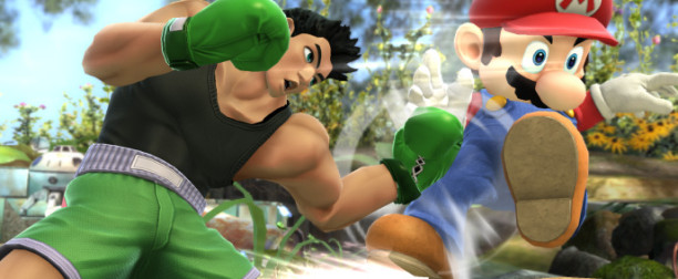 Little Mac a pelear en Super Smash Bros.