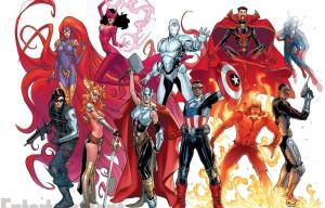 Nuevo Capitan America y equipo de Avengers