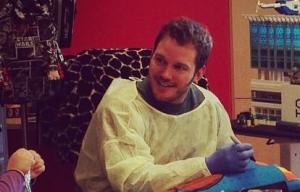 Chris Pratt visitó el Hospital de Niños de LA.